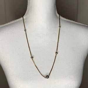 Vintage Avon Charming Gold Tone Beaded Necklace